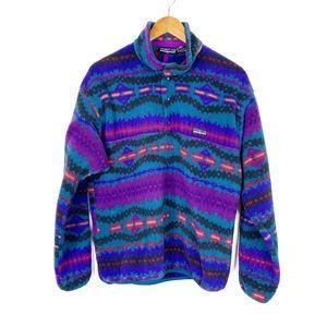 Patagonia Vintage 90s Aztec Snap T Pullover Medium